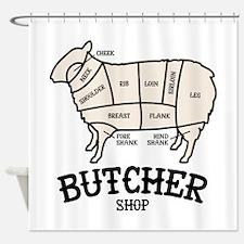 Butcher Lamb Shower Curtain