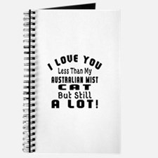 I Love You Less Than My Australian Mist Ca Journal