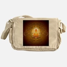 Buddha silhouette with floral elements Messenger B