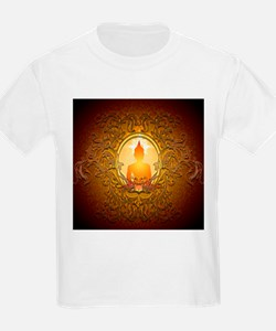 Buddha silhouette with floral elements T-Shirt
