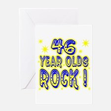 46 Year Olds Rock ! Greeting Card
