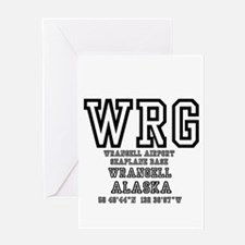 AIRPORT CODES - WRG - WRANGELL, SEA Greeting Cards