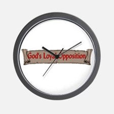 God's Loyal Opposition Wall Clock