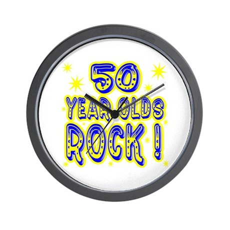 50 Year Olds Rock ! Wall Clock
