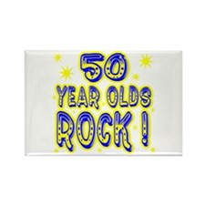 50 Year Olds Rock ! Rectangle Magnet
