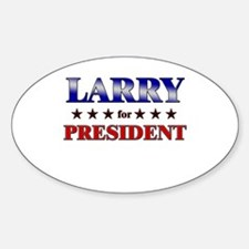 LARRY for president Oval Decal