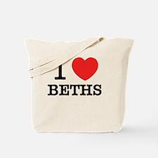 Funny I love beth Tote Bag