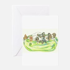 Papillons sleeping Greeting Cards