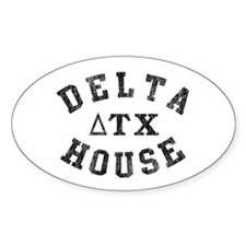 Delta House Oval Decal