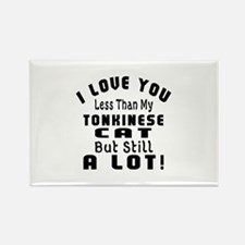 I Love You Less Than My Tonkinese Rectangle Magnet