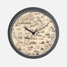 Funny Antique map Wall Clock
