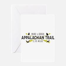 Hip Appalachian Trail Retro Badge Greeting Cards