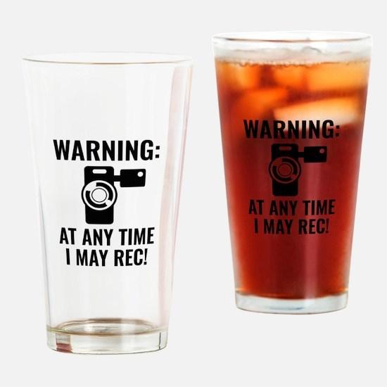 I May Rec Drinking Glass
