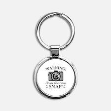 I May Snap Round Keychain