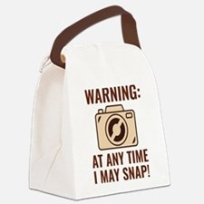 I May Snap Canvas Lunch Bag