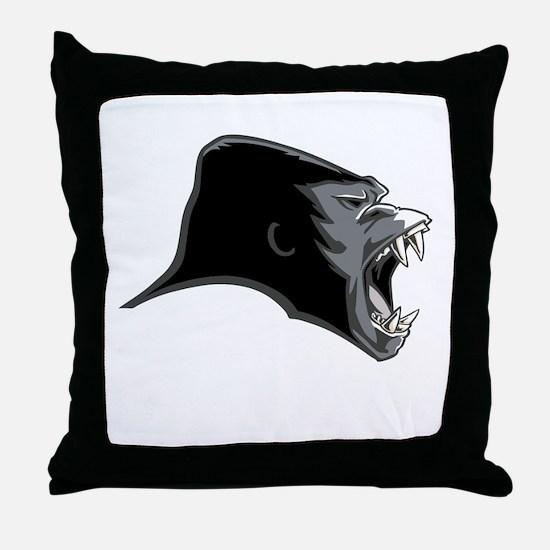 Gorilla Head Throw Pillow