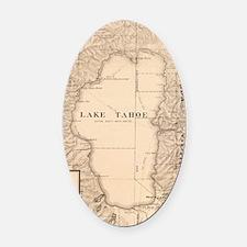 Unique Lake tahoe Oval Car Magnet