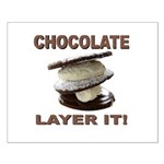Chocolate Layer It Small Poster