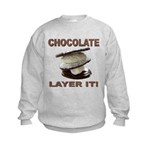 Chocolate Layer It Kids Sweatshirt