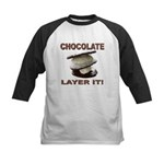 Chocolate Layer It Kids Baseball Jersey