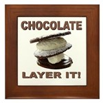 Chocolate Layer It Framed Tile