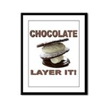 Chocolate Layer It Framed Panel Print