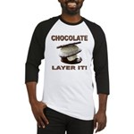 Chocolate Layer It Baseball Jersey