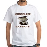 Chocolate Layer It White T-Shirt