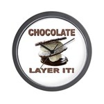 Chocolate Layer It Wall Clock