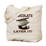 Chocolate Layer It Tote Bag