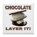 Chocolate Layer It Tile Coaster