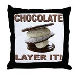 Chocolate Layer It Throw Pillow