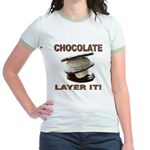 Chocolate Layer It Jr. Ringer T-Shirt