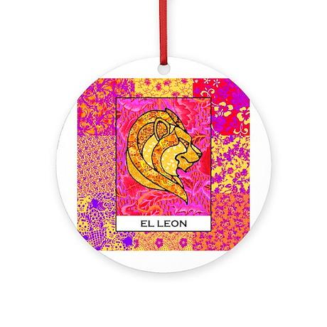 El Leon Square Ornament (Round)