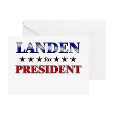 LANDEN for president Greeting Card