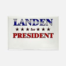 LANDEN for president Rectangle Magnet