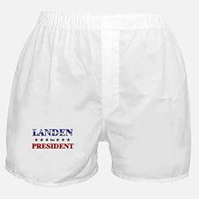 LANDEN for president Boxer Shorts