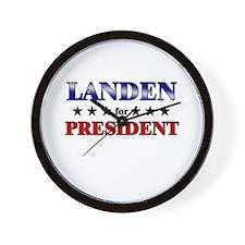 LANDEN for president Wall Clock