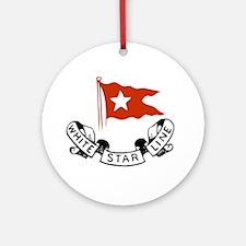 WhiteStar Round Ornament