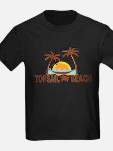 Topsail Beach - Palm Trees Design T-Shirt