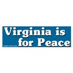 Virginia is for Peace Bumper Sticker