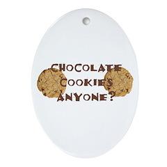ChocolateCookies? Oval Ornament