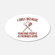 I Grill 22x14 Oval Wall Peel