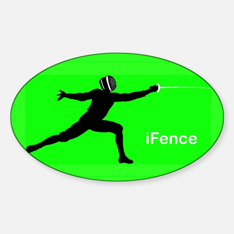 iFence Green - Oval Decal