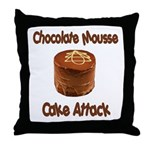 Chocolate Mousse Cake Attack Throw Pillow
