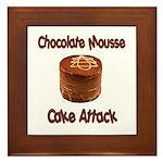 Chocolate Mousse Cake Attack Framed Tile