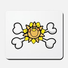 Happy Sun Crossbones Design Mousepad
