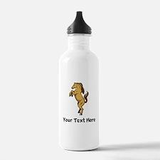 Horse On Hind Legs (Custom) Water Bottle