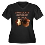 Chocolate Cupcake Attack Women's Plus Size V-Neck