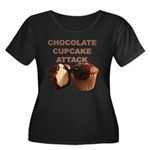 Chocolate Cupcake Attack Women's Plus Size Scoop N